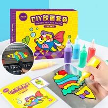 Дети DIY Рисование игрушки мультфильм клей темперная живопись искусство для детского сада ремесло Детские игрушки ребенок день рождения игрушки для детей