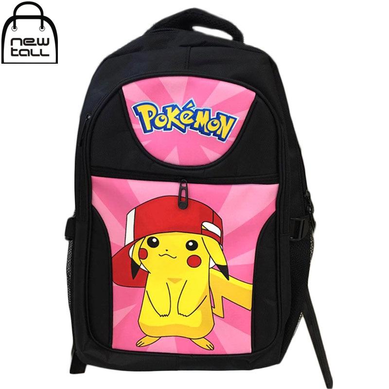 ФОТО [NEWTALL] 2017 New Fashion Anime Pokemon GO Style Backpack Pokemon Bag Cartoon Canvas Shoulder Bag Free Shipping ZB0025