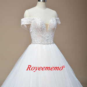 Image 4 - 2019 new design Wedding Dress A line skirt Bridal gown custom made wedding gown factory directly wholesale price bridal dress