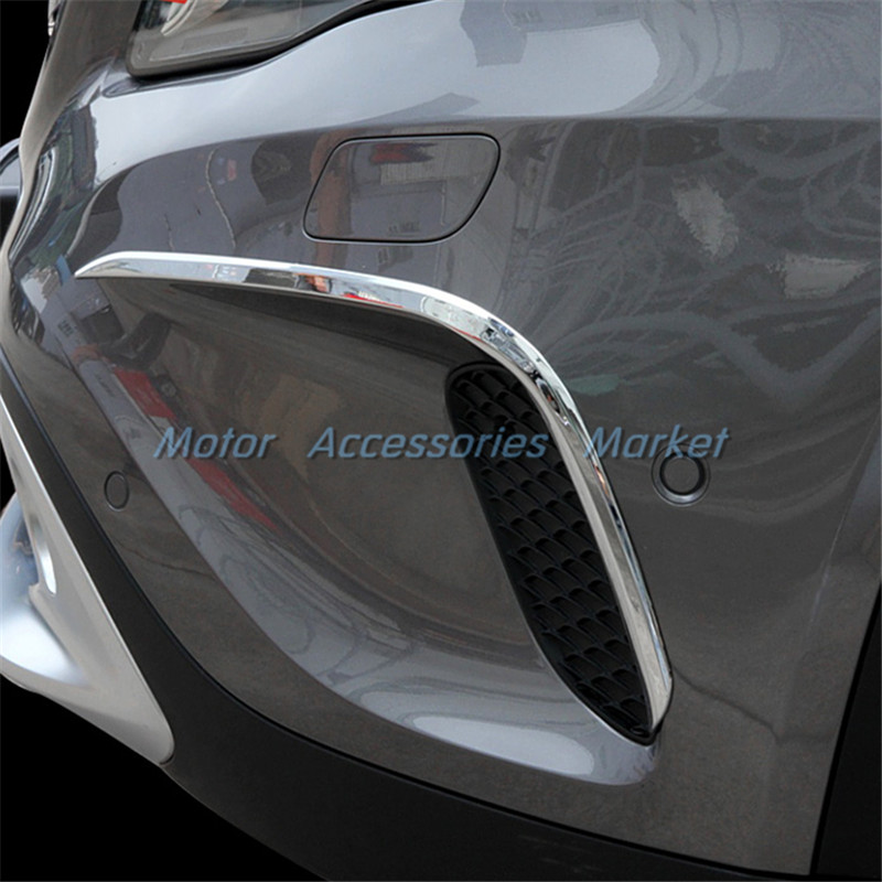 New chrome front air vent eyebrow trim for mercedes benz for Mercedes benz chrome accessories