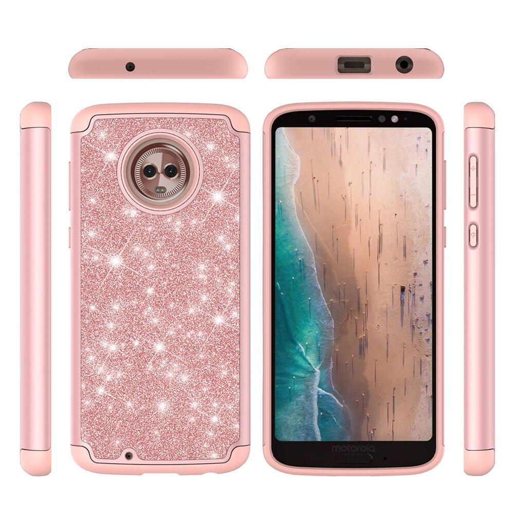 e4b738855e9 For Motorola Moto G6 G6 Play Cover UYFRATE Shockproof Glitter Bling  Silicone Case Funda For Motorola Moto G 6 E5 Play E4-in Fitted Cases from  Cellphones ...
