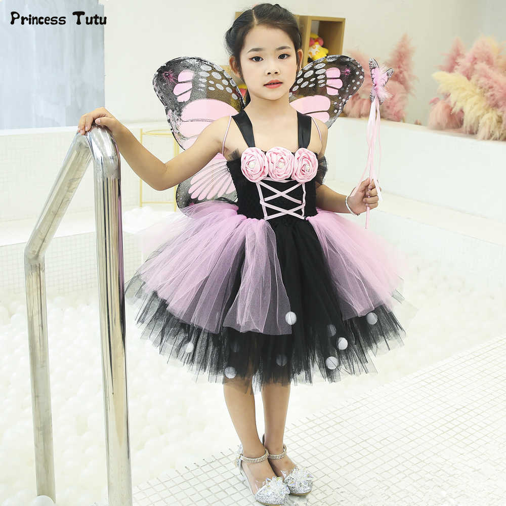 a1642a0feeea Detail Feedback Questions about Pink   Black Monarch Butterfly Tutu ...