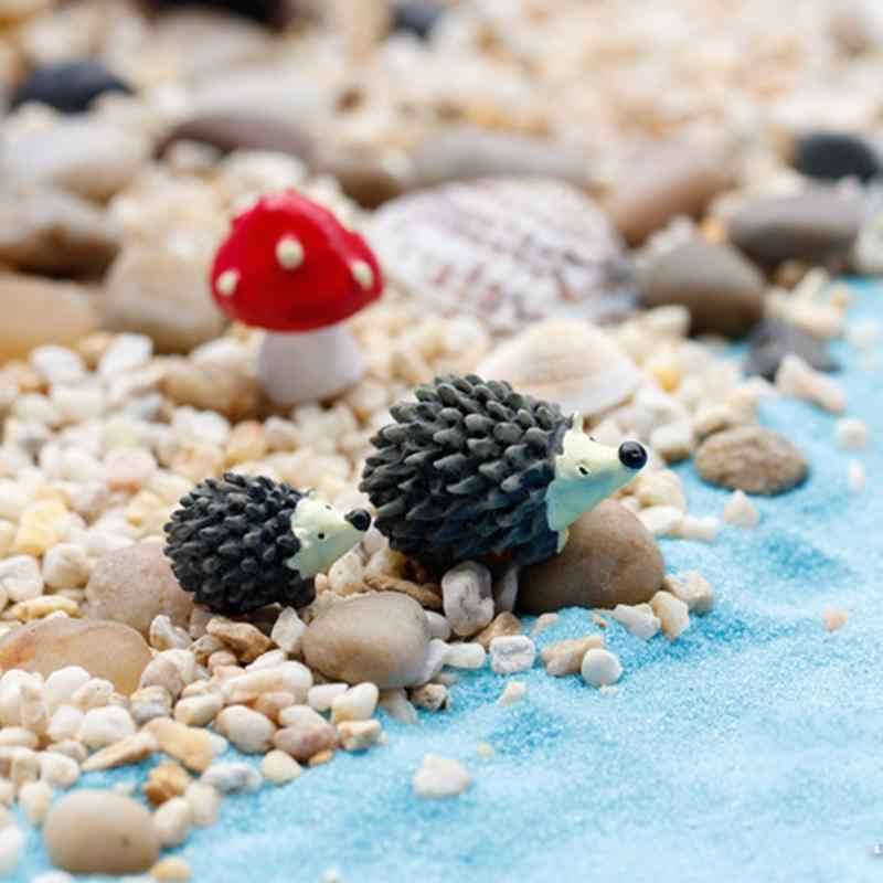 3 Cái/bộ Nhân Tạo Cao Cấp Mini Thú Nhím Màu Đỏ Chấm Bi Nấm Bức Tiểu Họa Rêu Terrarium Nhựa Hàng Thủ Công Hành Động Đồ Chơi Nhân Vật