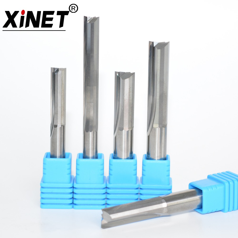 CNC Carbide End Mill,woodworking Router Bit,High Precision,2 Straight Flutes End Milling Cutter /EVA,MDF,Wood