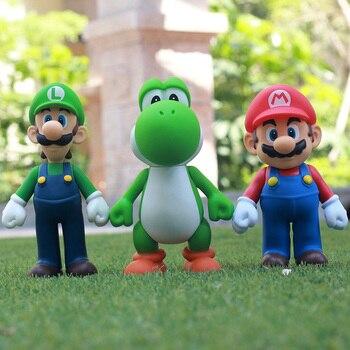 13 Cm Material Pvc Super Mario Bros Luigi Mario Yoshi Animacion