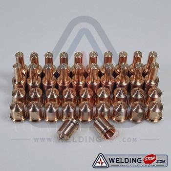220669 + 220671 HMX 45 palnik do cięcia materiały eksploatacyjne porady elektrody 45Amp 40pcs pack tanie i dobre opinie weldingstop Plasma cutting torch PMX45 220669+220671