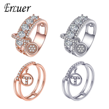 Купить с кэшбэком ERLUER Fashion Engagement Ring for Women Jewelry Rose Gold Classical Christmas Party Wedding Rings Friendship Jewellery Gifts