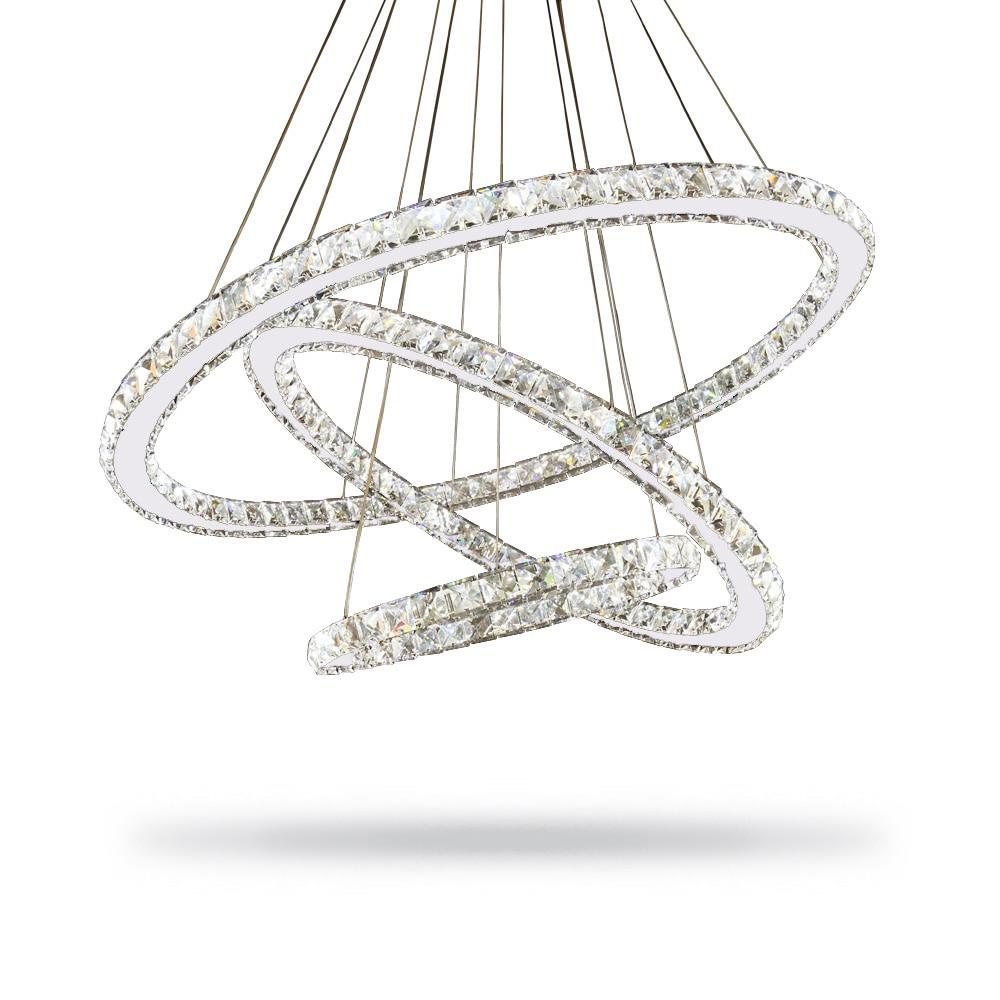 Lustro moderno Led Lampadario di Cristallo di Illuminazione Lampadari A Soffitto Lamparas De Techo Hanglamp Sospensione Apparecchio Lampen