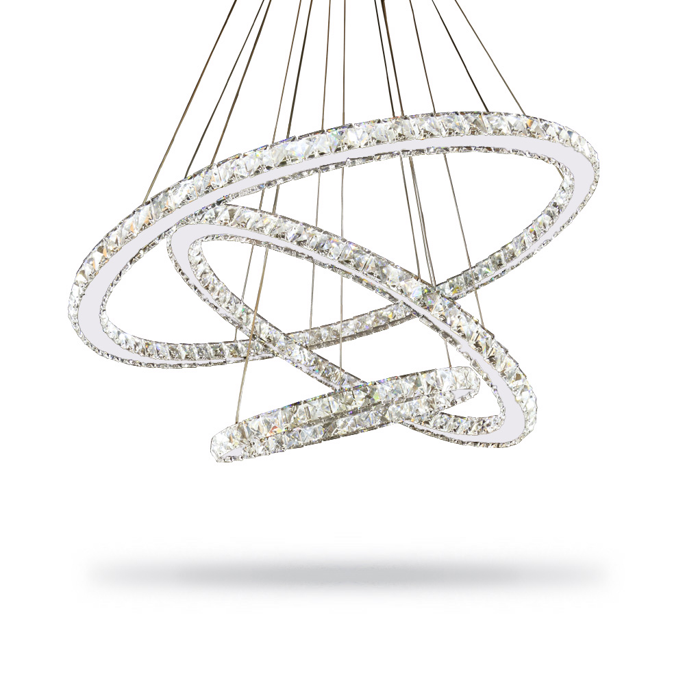 Modern lustre led crystal chandelier lighting ceiling for Suspension luminaire filaire