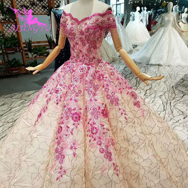 AIJINGYU Buy Wedding Dresses Gowns Under 500 Open Back Queen Illusion Italian Vegas Weddings Muslim Wedding Dress