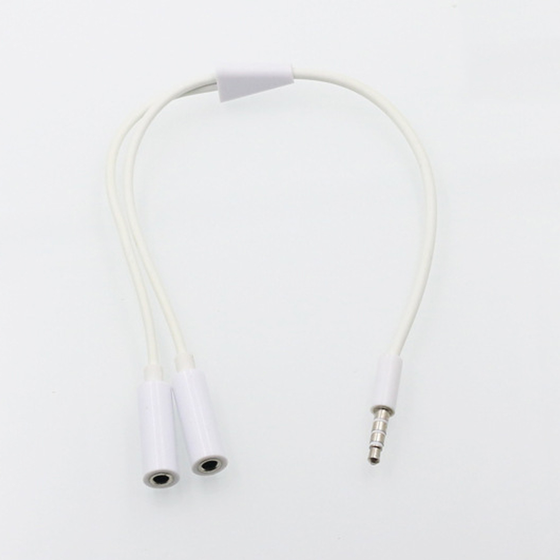 White 3 5mm Audio Splitter Cable Earphone Headphone
