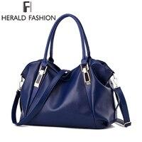 Herald Fashion Designer Women Handbag Female PU Leather Bags Handbags Ladies Portable Shoulder Bag Office Ladies