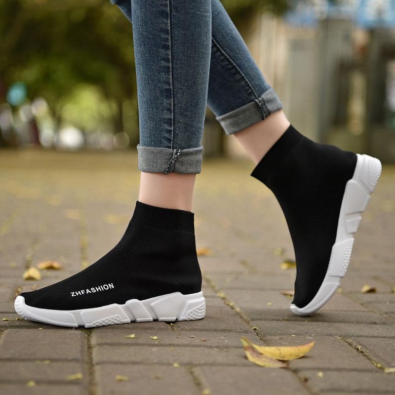 Breathable Flying Socks Shoes Women