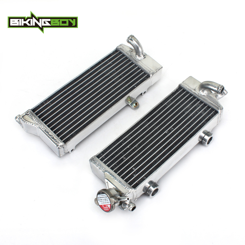 BIKINGBOY Aluminium Core MX Offroad Motorcycle Engine Radiators Cooling for KTM SX XC EXC XC-W 125/150/200/250/300/350 08-16 15 стоимость