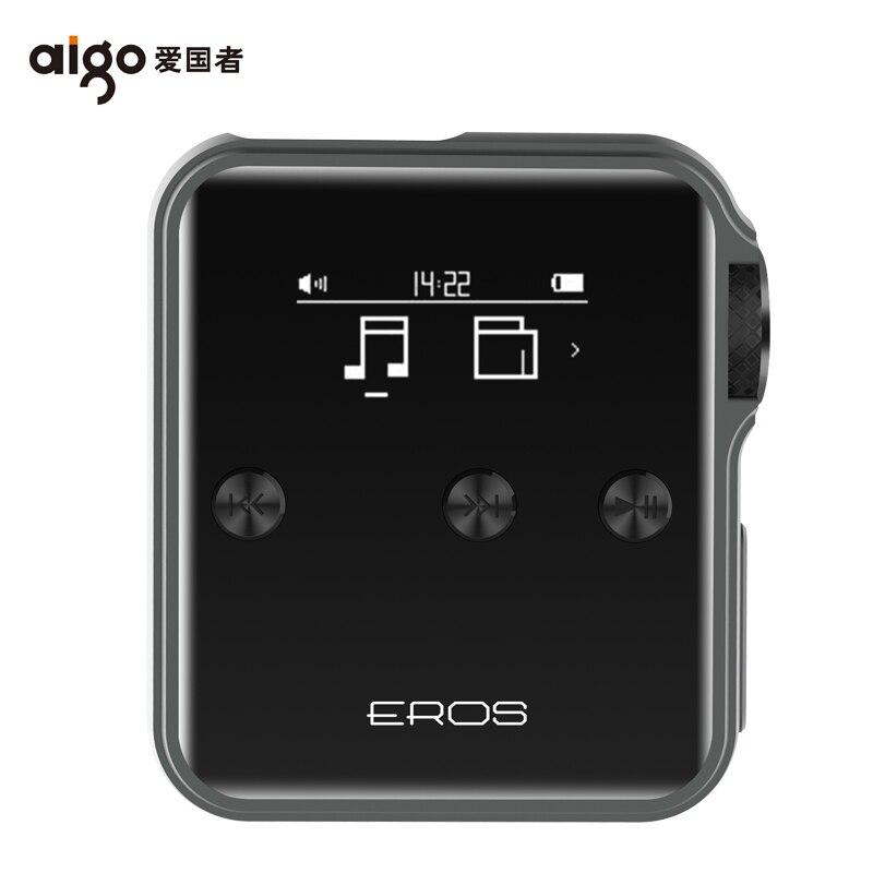 Aigo EROS J Hifi lecteur sans perte bluetooth 4.0 lecteur MP3 USB DSD professionnel DAC Flac Audio musique Mini OTG Support 128G TF