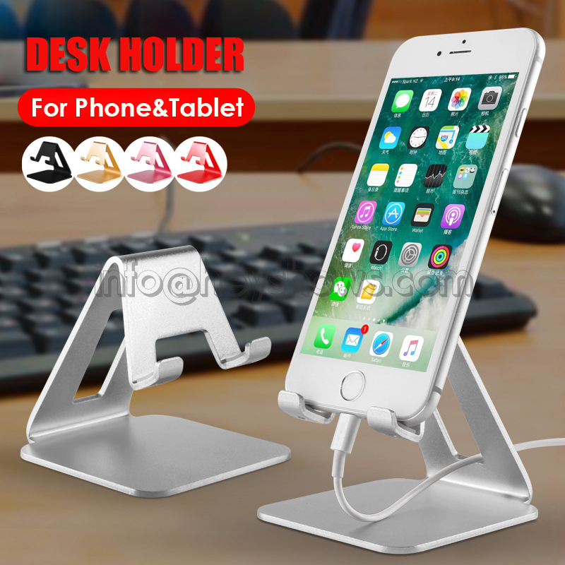 Metal Security Mobile Phone Holder Aluminium Cell Phone Stand Desk Tablet Stand Holder For Apple,Xiaomi,Huawei,Samsung Phone universal mobile phone cell phone holder stand black