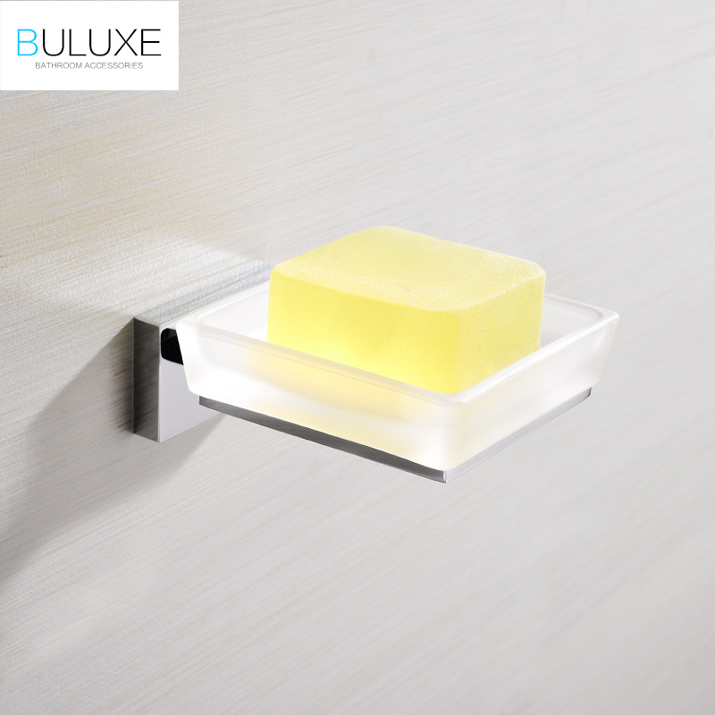 BULUXE Brass Bathroom Accessories Wall Mounted Soap Dish Holder Bath Acessorios de banheiro Soap Box HP7753 european style brass antique bronze solid brass bathroom soap holder soap basket bathroom accessories soap dish bathroom shelf