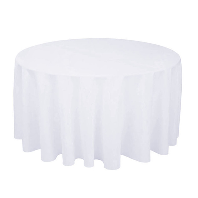 10PCS/LOT Wholesale Polyester Round Table Cloth For Wedding Hotel Decor  White Table Cloth Square