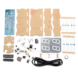 4 bits digital tube led electronic clock microcontroller diy kit led digital clock time thermometer acrylic.jpg 250x250
