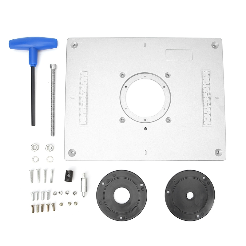 1 Set Router Table Insert Plate Aluminum Router Table Insert Plate Trimmer Engraving Machine Woodworking Bench