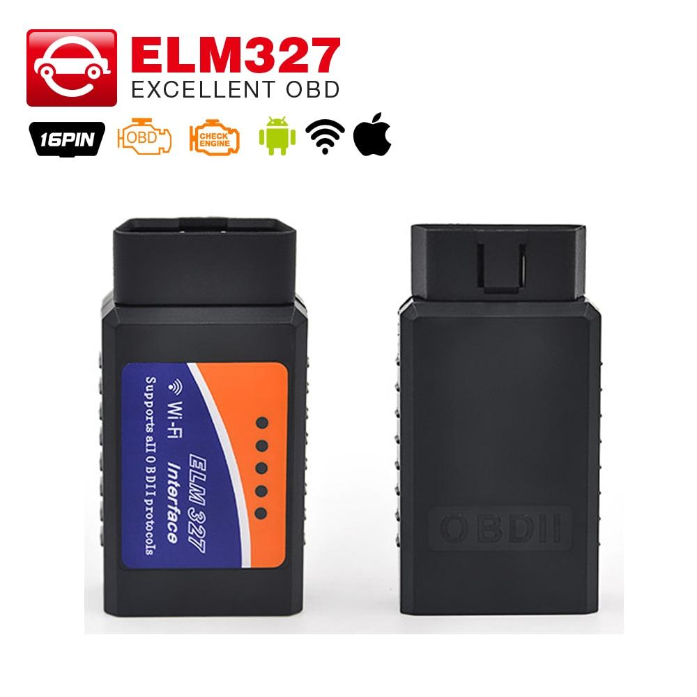 Prix pour 2017 Haute qualité Auto OBDII Lecteur de Code ELM327 WIFI Sans Fil prend en charge tous les protocoles obd2 wifi elm 327 pour iphone ipad iPod