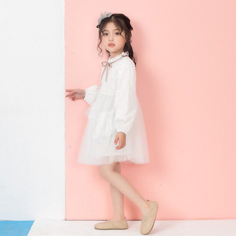 Été bébé fille robe 2019 nouveaux enfants doux mode filles élégantes robe de princesse enfants vêtements Style européen fête de mariage - 4