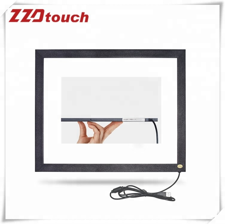 ZZDtouch 17 inch IR touch frame 2 points infrared touch screen panel multi touchscreen overlay for