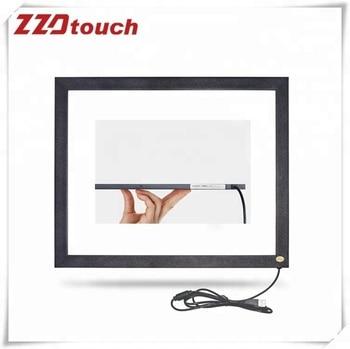 Zzdtouch 17 polegada ir touch frame 2 pontos painel da tela de toque infravermelho multi touchscreen sobreposição para monitor computador compilador