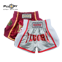 5 colors fluory muay thai shorts trainning and competing mma shorts kick boxing shorts for male and female
