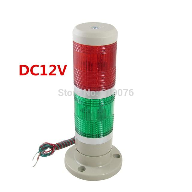 12VDC 2 слой Красный Зеленый Сигнал Промышленные Башня Сигнальная Лампа Двойной цвет сигнальная лампа станок лампа аварийной сигнализации