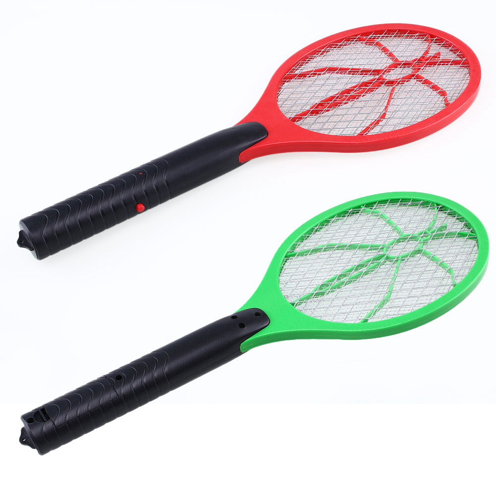 Handheld Home Electric Three Layer Mesh Bug Zappers Anti Mosquito Flying Insect Swatter Racket Fly Zapper Random Color
