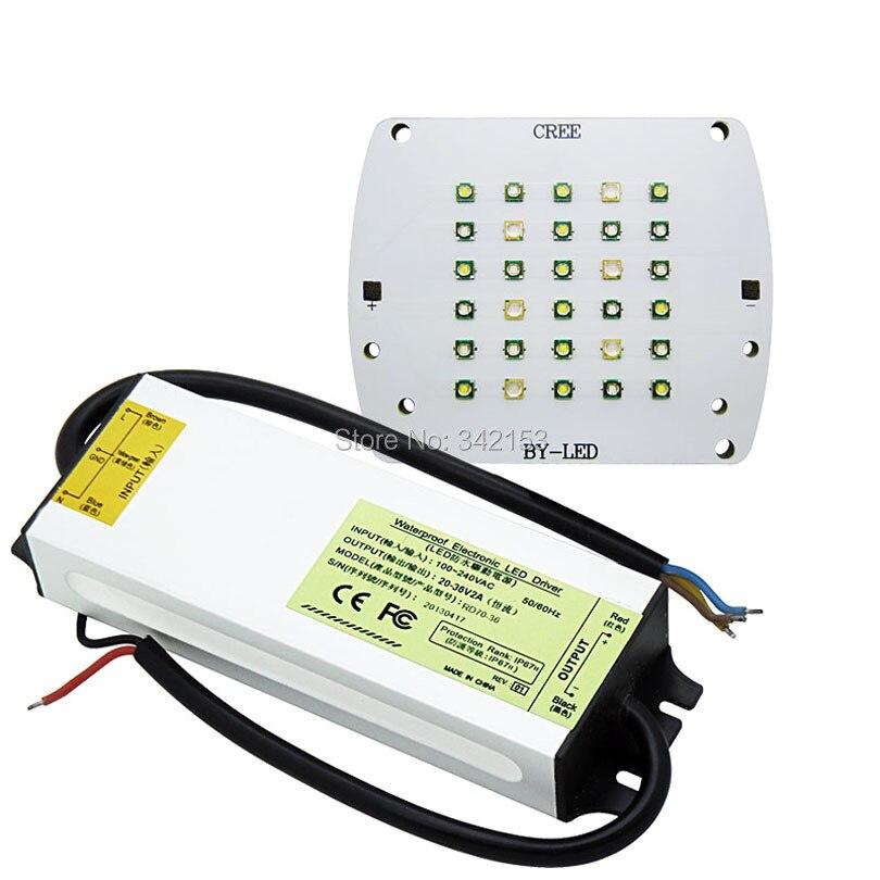 ФОТО Free Shipping DIY Led Lamp Light Kit Cree + Epileds DIY Led + 60W High Power Led Driver