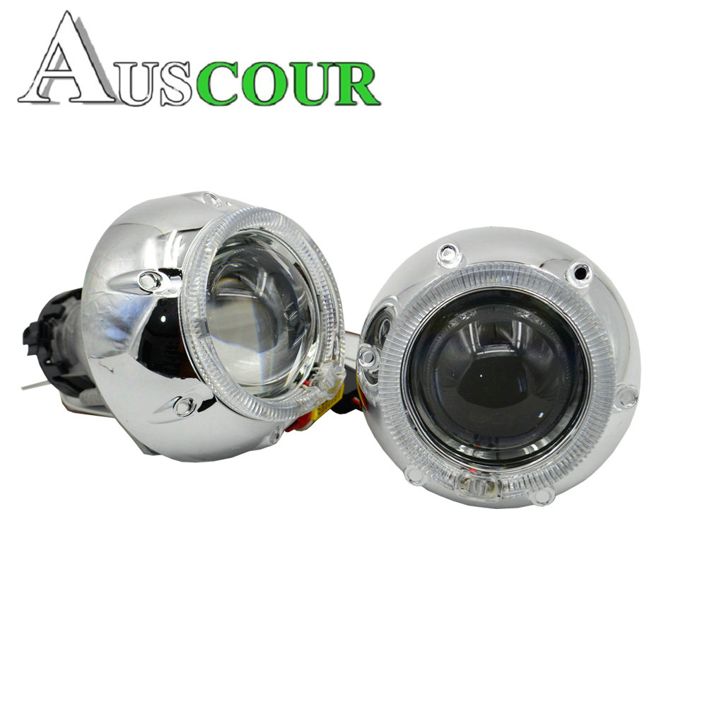 3.0inch hella 5 Bixenon hid Projector lens with angel eyes led day running mask d1s d2s d3s d4s hid xenon kit car styling Modify 2pcs 3 0 inch hella 5 car bi xenon bixenon hid projector lens metal holderd1s d2s d3s d4s hid xenon kit headlight car headlight