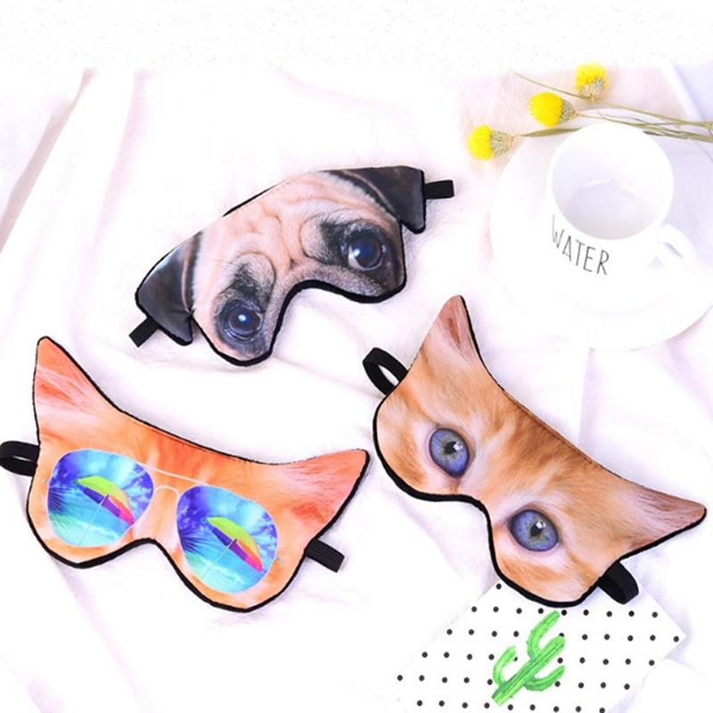 1PC Cute 3D Animal Printing Sleeping Eye Mask Blindfold Relax Sleep Travel Covers Eye-shade Sleeping Tools Eyepatch New