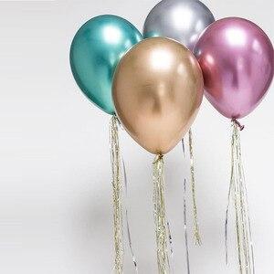 Image 5 - 10個12インチクロームラウンドラテックス風船ゴールドシルバーピンクウェディング市場のホテル誕生日パーティーの装飾ヘリウムバルーン