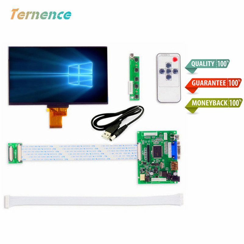 купить 7''Inches 1024*600 IPS Screen Display LCD TFT Monitor EJ070NA-01J with Remote Driver Control Board 2AV HDMI VGA for Raspberry Pi по цене 1789.01 рублей