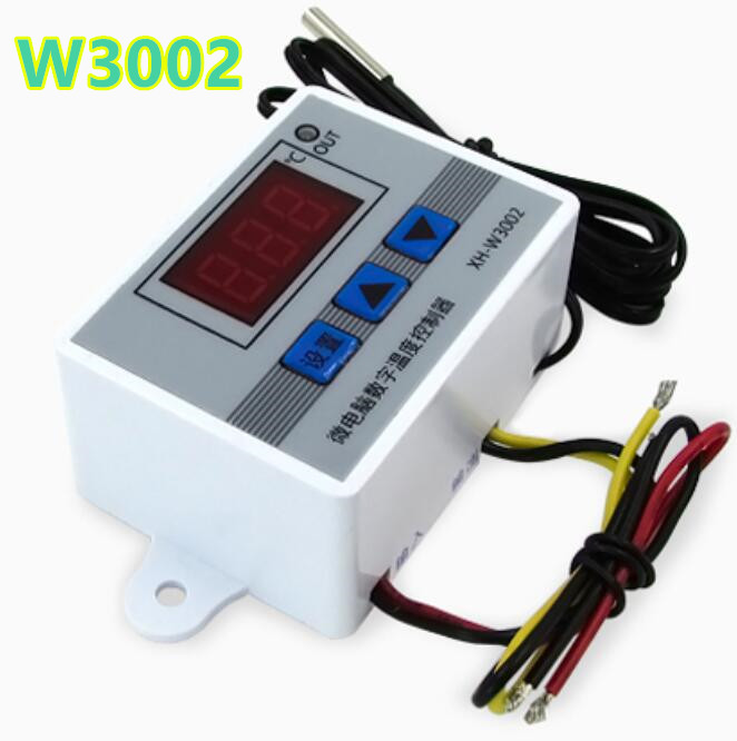10pcs/lot Temperature Control W3002 Switch Sensor with probe 220v 12V 24V Thermostat Controller -50 ~ 110C  40%off  цены