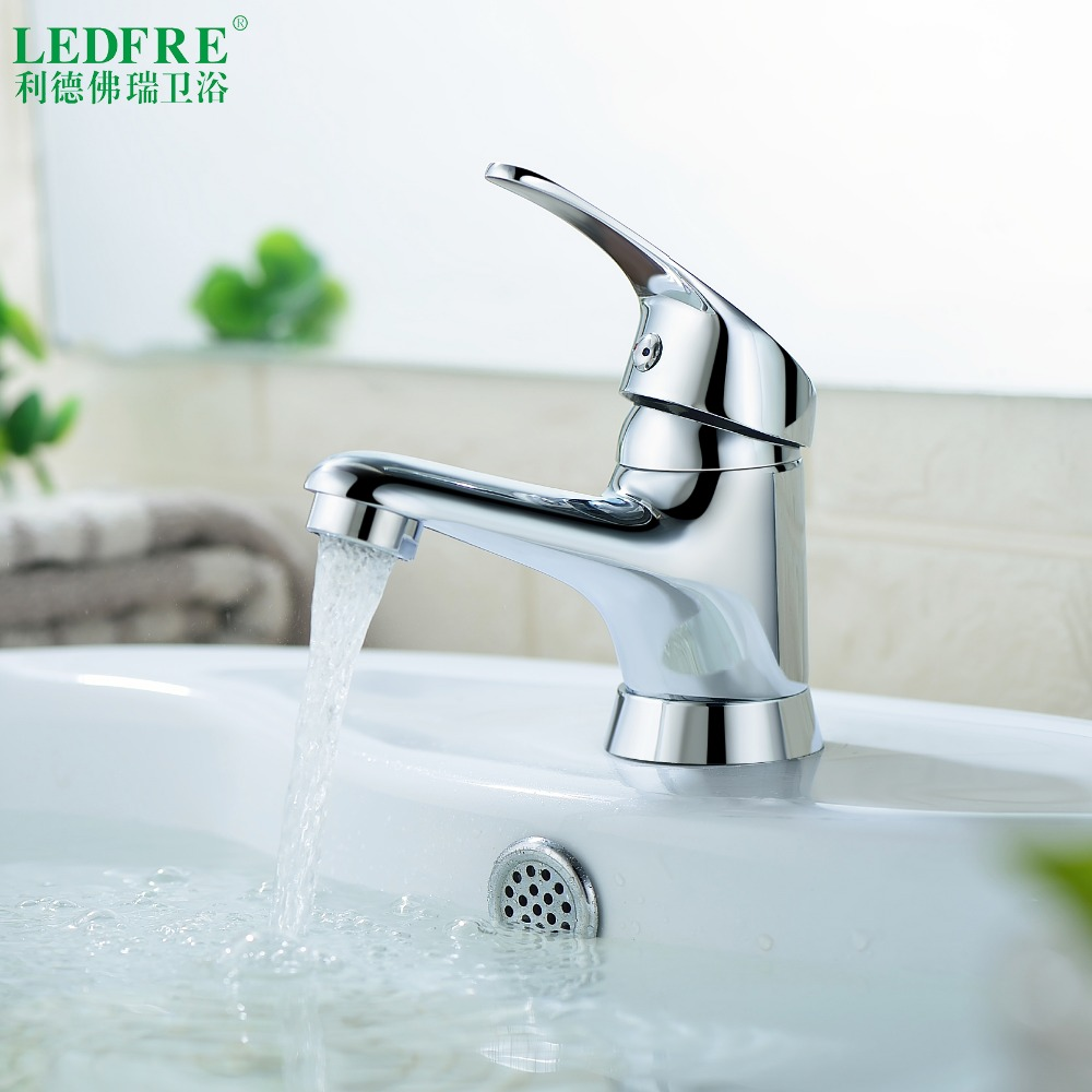 LF56O100 Single level Basin mix faucet water tap bathroom single handle cold and hot water hot cold tap bathroom mixer tap