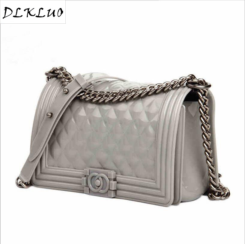 Detail Feedback Questions about Wholesale Guangzhou jelly bag 2017 new  silica gel single shoulder oblique Ling Ling chain chain ladies summer bag  30 on ... bea8ec56be