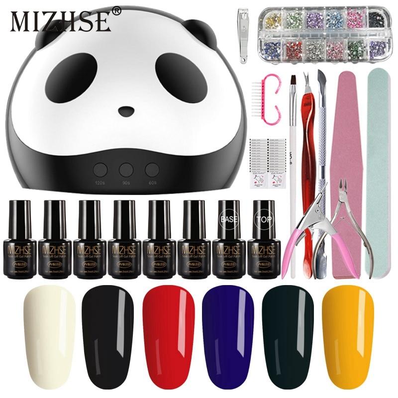 MIZHSE 20Pcs/Lot Pro UV Lamp Nail Art Tools DIY Nail Design UV Nail Manicure Kit 7ML Gel Nail Polish Set Compromising De Gel Kit цена