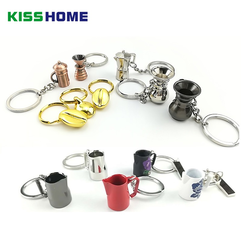 Image 2 - Coffee Key Chain Couple Espresso Accessories  Mini Coffee Tamper Beautiful Coffee Keyring Cafe Gift for Coffee Lovers Keychain-in Coffeeware Sets from Home & Garden