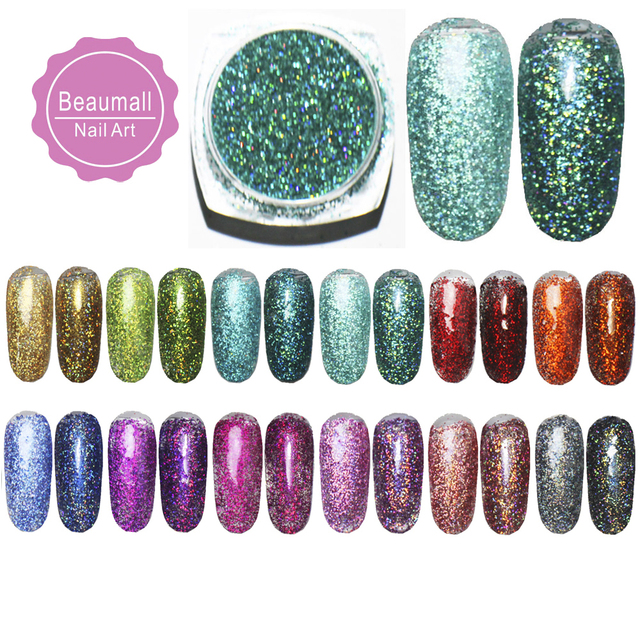 2g/pot ,0.2mm (1/128 008) Holographic Glitter Laser Powders Chrome Pigments Glitters Dusts For Nail, Tattoo Art,Make Up.