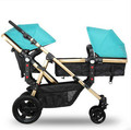 Twin baby stroller can sit lie suspension high landscape light can be split two double trolley