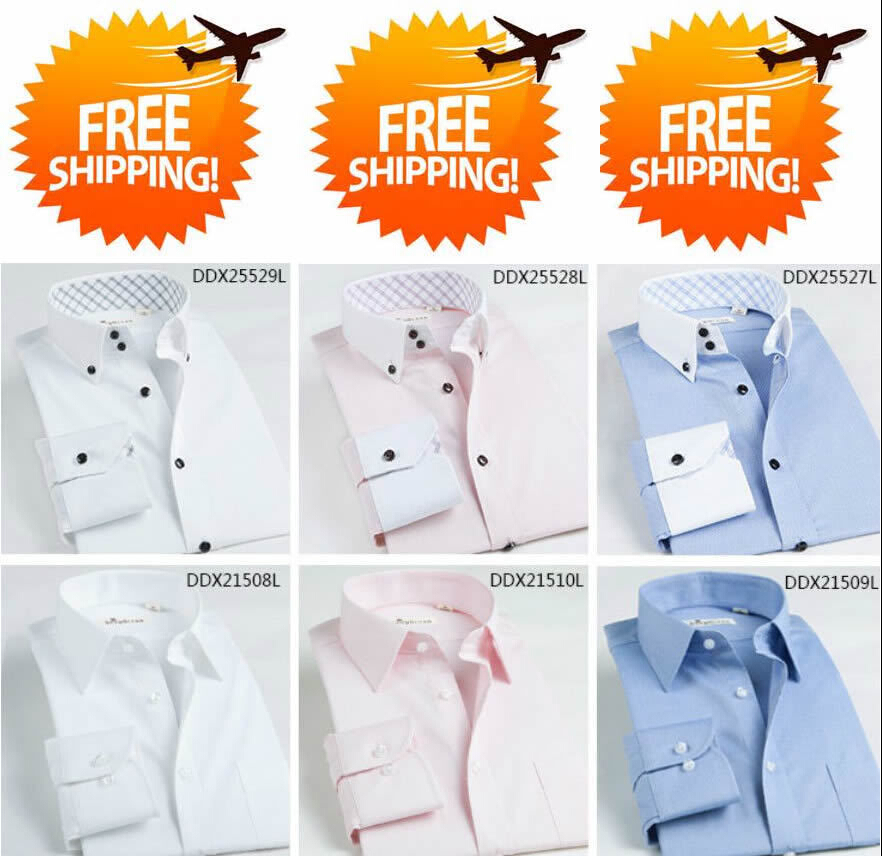 3 Custom Dress Shirt Men Bespoke Shirt,  Camisa Social Masculina  Slim Fit Men Dress Shirts Long Sleeve Tailor Made Dress Shirt