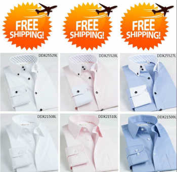 3 Custom Dress Shirt Men Bespoke Shirt,  Camisa Social Masculina  Slim Fit Men Dress Shirts Long Sleeve Tailor Made Dress Shirt - DISCOUNT ITEM  0% OFF All Category