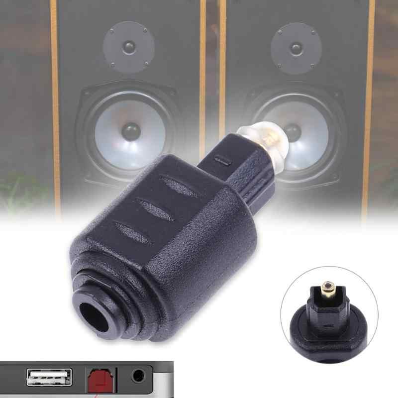 Conector adaptador de Audio óptico Toslink macho a Mini 3,5mm Toslink hembra adaptador de fibra óptica para Audio estéreo DTS