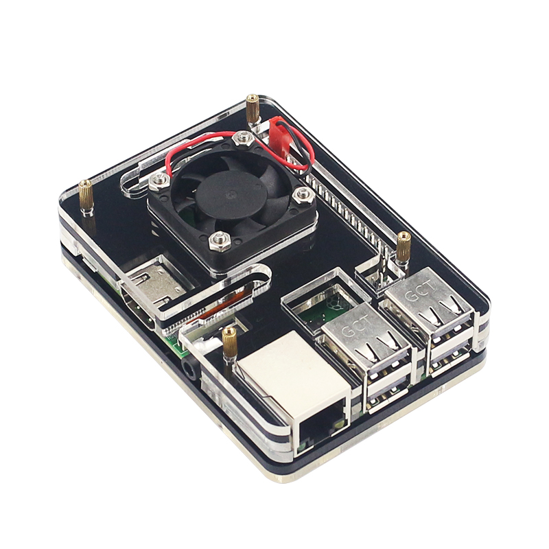 6-layer Raspberry Pi 3 Model B+ Plus Acrylic Case Shell Enclosure with Cooling Fan for Raspberry Pi 3 Case Fan кабель акустический vivanco 46824 transparent