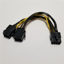цена на Graphics Card Dual 6Pin Female to 8Pin Adapter PCI-E Power Supply Extension Cable 18AWG 20cm