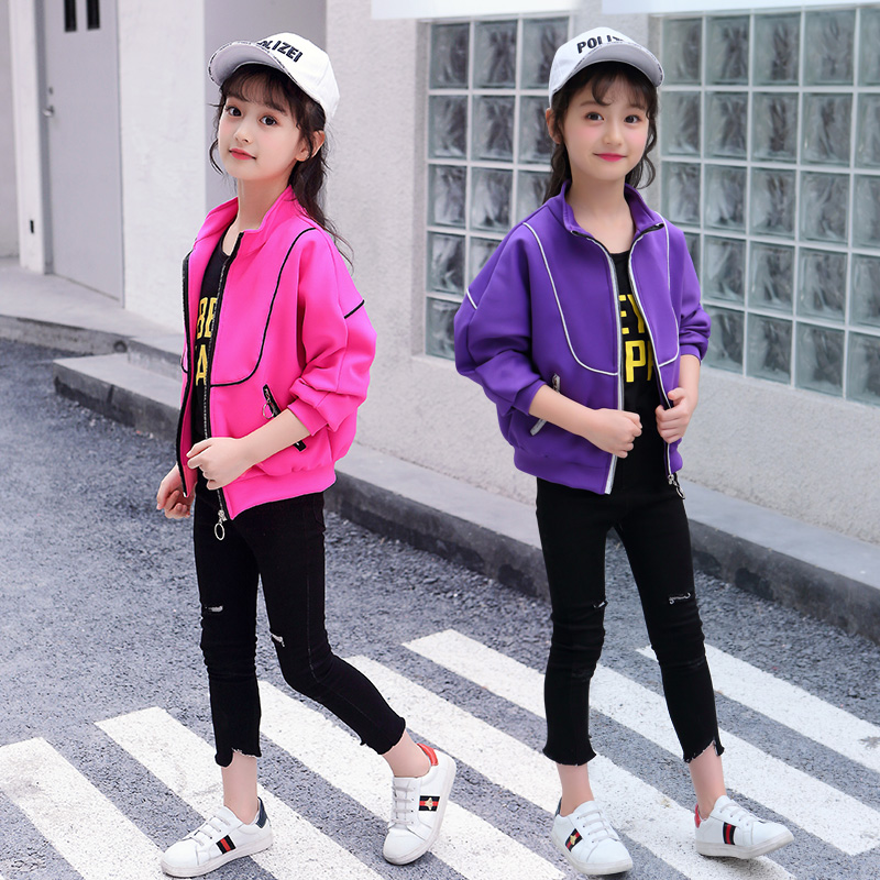 Latest Fashion Embroidery Bomber Jacket for Girl Windproof Trendy Autumn Baby Girl Baseball Jacket Active Kids Children Coat spring outfits for kids