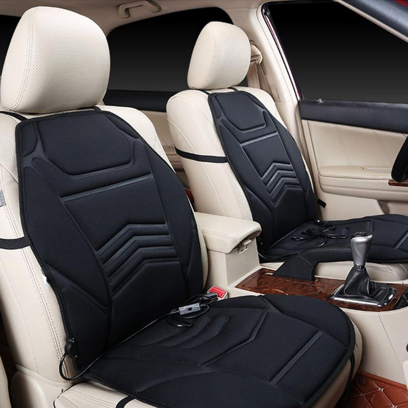 Universal DC12V Powered Car Heated Seat Cushion Front Seat Cover Auto Temperature Control Winter Warming Car Heating Seat Cover цена